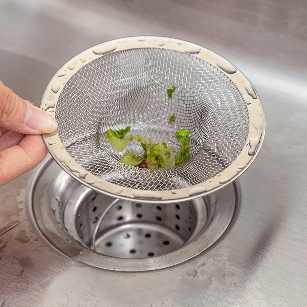 Kitchen Sink Strainer Drain Hole Filter Trap Sink Strainer Stainless Steel Bath Sink Drain Waste Kitchen Accessories K30