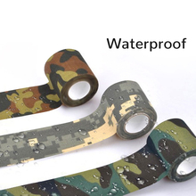Camouflage Printed Tapes 10M Outdoor Waterproof Stretch Hunting Wrap Camo Duct Cloth Bicycle Sticker Mini Tools 10mx5cm
