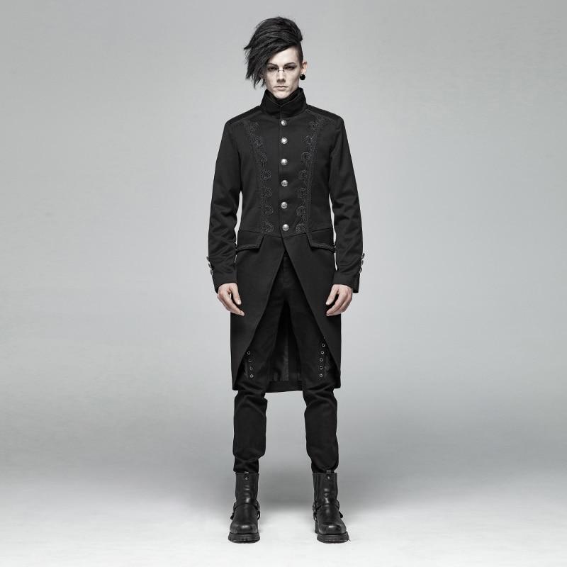 PUNKRAVE Men's Victoria Gothic Mid-length Coat Vintage Gentleman Evening Dinner Party Dress Jacket