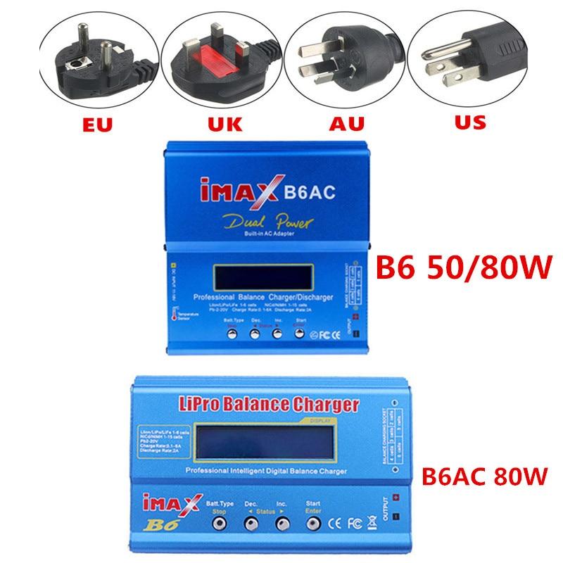 Зарядное устройство iMAX B6 80 Вт 6A Lipo для аккумуляторов Lipo NiMh Li-Ion Ni-Cd, цифровой аккумулятор с адаптером питания 15 в 6 А