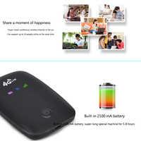 4G inalámbrico Dongle batería recargable portátil Wifi enrutador Sim ranura Exterior Coche móvil bolsillo módem viaje alta velocidad Hotspot