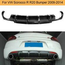 Автомобильный задний диффузор из углеродного волокна для Volkswagen VW Scirocco R R20 бампер 2009- Черный FRP задний диффузор спойлер