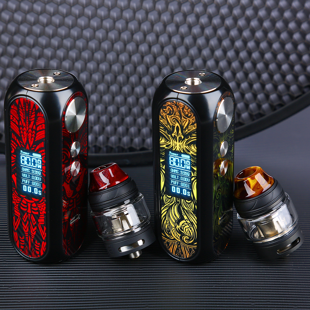 Original OBS Cube X 80W VW Kit With 2ml/4ml Cube X Mesh Tank Slide Top Filling & Adjustable Airflow E-cig Kit Vs Drag 2 / Shogun