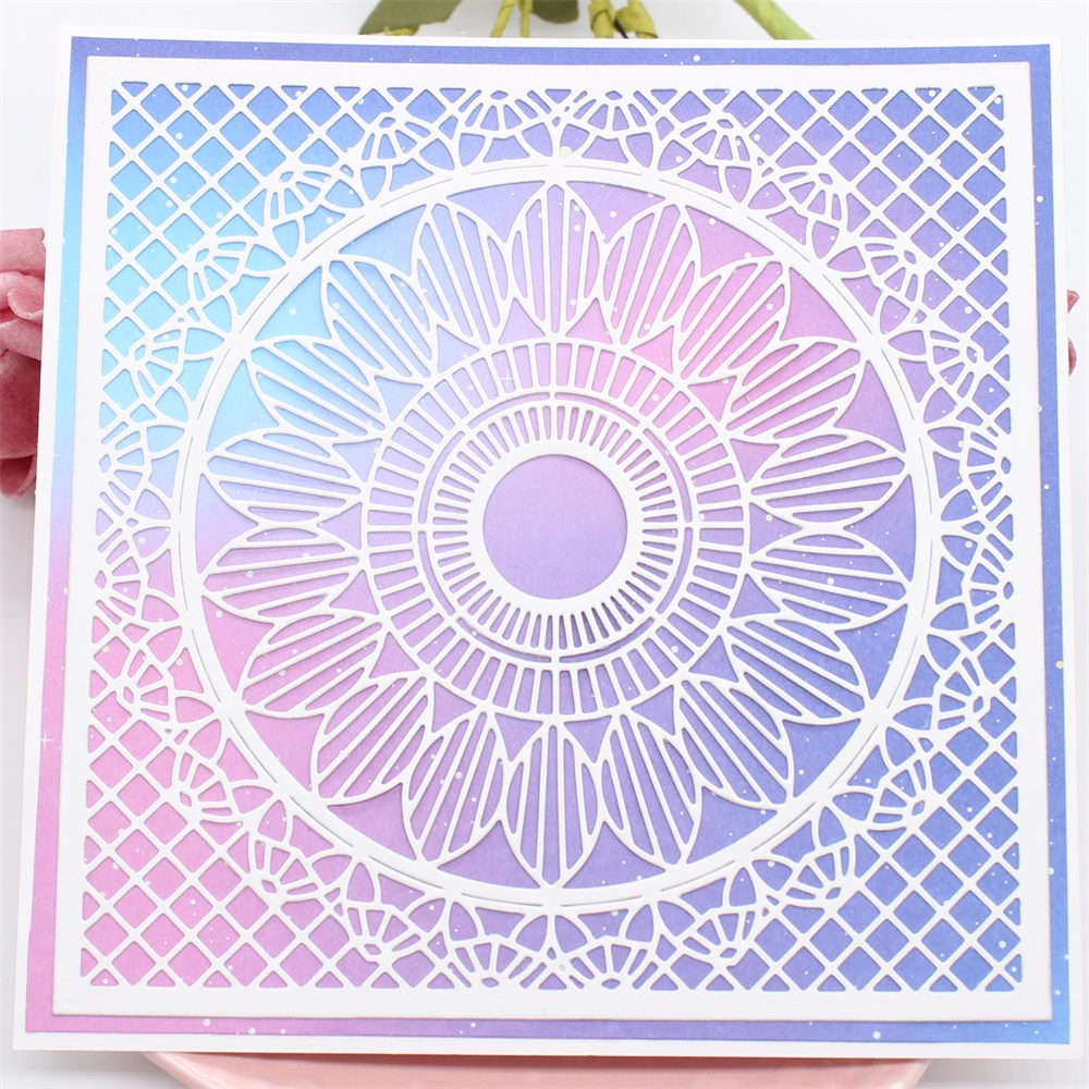 Circle Frame Metal Cutting Dies Stencils for DIY Scrapbooking Card Die Cuts