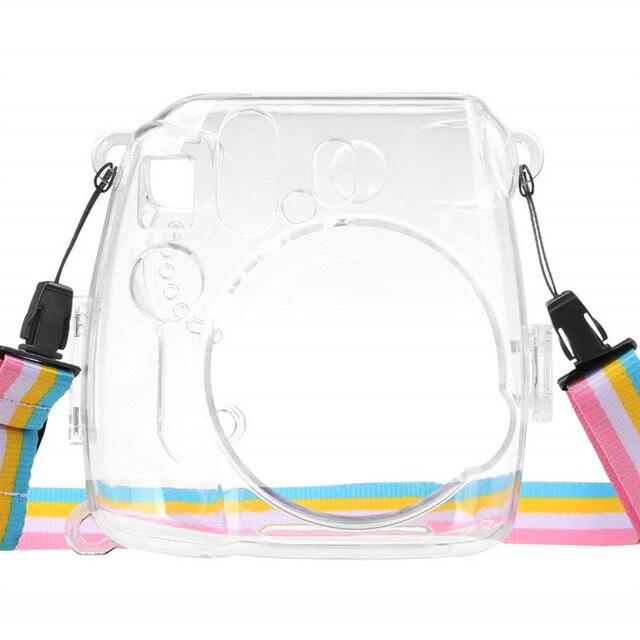 스트랩 투명 경량 카메라 케이스 안티 충격 쉬운 적용 커버 방진 보호 실용 instax 미니 8 9