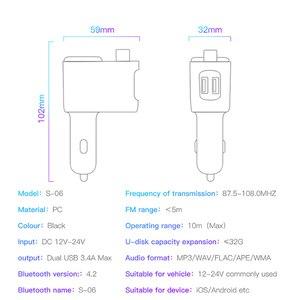 Image 5 - Baseus車のusb充電器車のfmトランスミッタiphone xiaomi aux MP3プレーヤーfm変調器のためのデュアルusb車の充電携帯電話