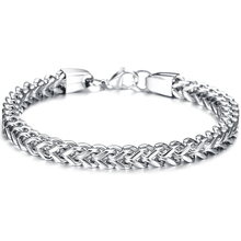 Men Charm Stylish Stainless Steel Silver/Gold/Black Chain Bracelet for Men Double Link Chain Bracelets Male Jewelry