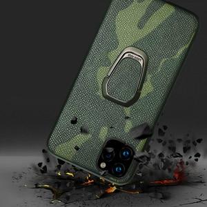 Image 5 - Custodia Fhx 15U mimetica in vera pelle per iPhone 11 11 Pro Max cavalletto magnetico di lusso per iPhone X XS MAX XR