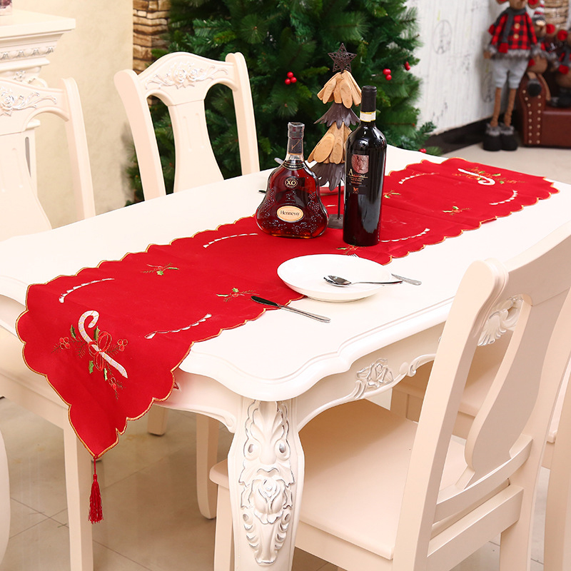 Christmas Tablecloth Decorations For Home Rectangle Desk <fo