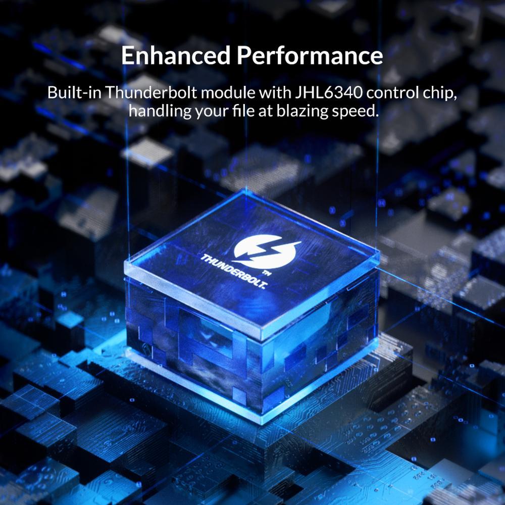Image 5 - Корпус SSD ORICO Thunderbolt 3 40 Гбит/с M.2 NVME, прозрачный корпус 2 ТБ USB C SSD с кабелем 40 Гбит/с C C для Mac и WindowsКорпус жесткого диска    АлиЭкспресс