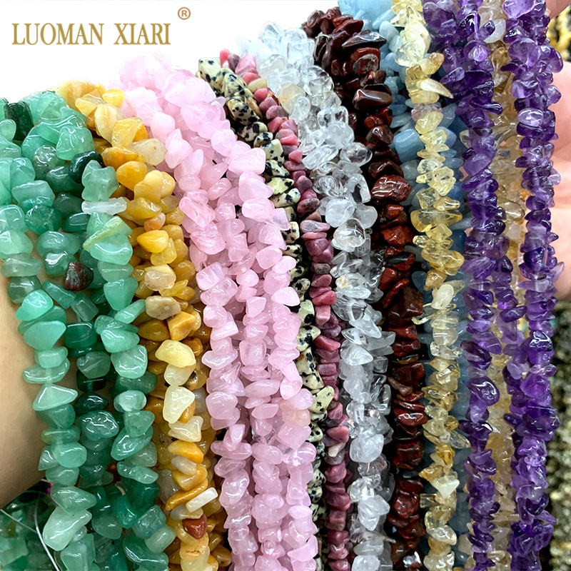 Wholesale 2PCS Natural Irregular Stone Beads Agates Crystal Malachites Amethysts For Jewelry Making DIY Bracelet Necklace 5-8MM