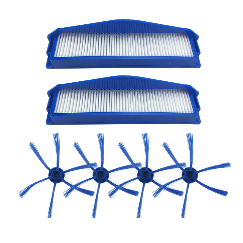 SANQ 6-Armed Side Brushes Filter Vacuum Cleaner Parts for Philips FC8796 FC8794 FC8792