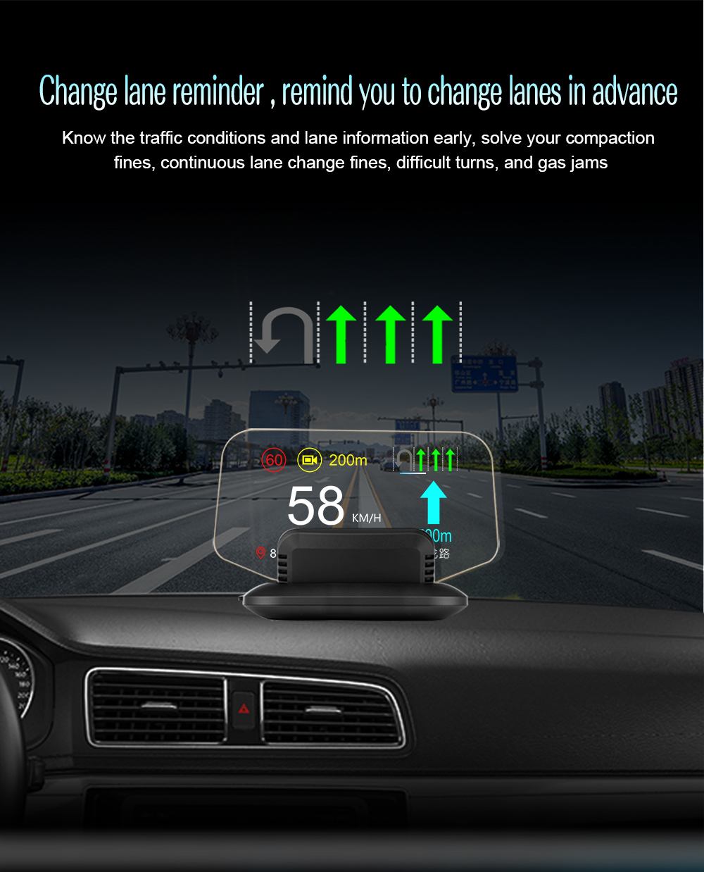 C1 HUD Mirror with Navigation system  (8)