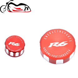 For Yamaha YZF-R6 YZF R6 YZFR6 2000-2020 2019 Motorcycle CNC Aluminum Rear & Front Brake Fluid Reservoir Cap Cylinder cover