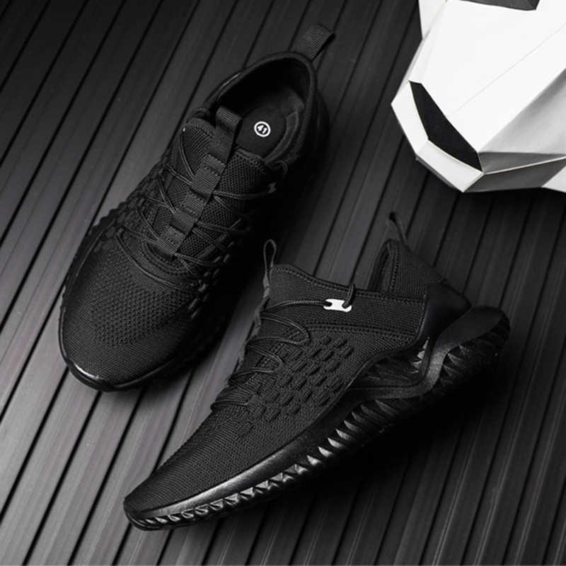 REETENE rahat ayakkabılar erkek spor ayakkabı yüksek kaliteli örgü ayakkabı erkekler için hafif nefes erkek ayakkabısı uçan dokuma koşu ayakkabıları erkekler