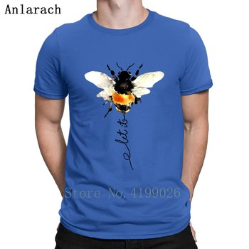 Let It Bee Hippies T Shirt Cool Interesting Crew Neck Design Building Natural Short Sleeve Summer Shirt