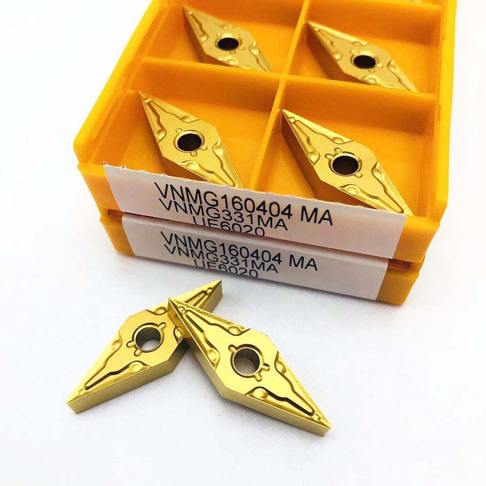 Купить с кэшбэком VNMG160408 VNMG160404 MA high-quality external turning tool carbide blade metal lathe tool VNMG steel processing CNC parts tool