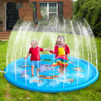 Sprinkler Pad & Splash Play Mat for Kids, Toddler Sprinkler Water Toys Inflatable Outdoor Swimming Pool Toy for Boys Girls Child