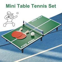 Горячая Распродажа мини стол для пинг-понга теннисный стол Набор деревянные детские развивающие игрушки Высокое качество Быстрая