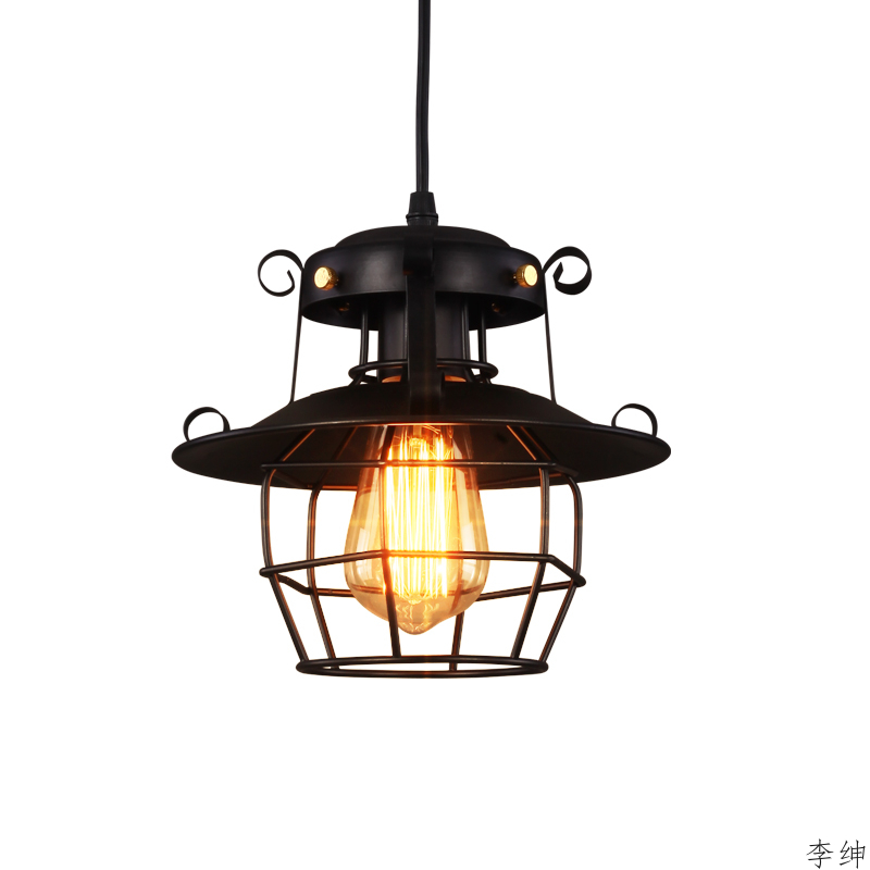 American Retro Pendant Lights Loft Industrial Decor Vintage Iron Hanging Pendant Lamp For Cafe Bar Indoor Lighting Luminaires