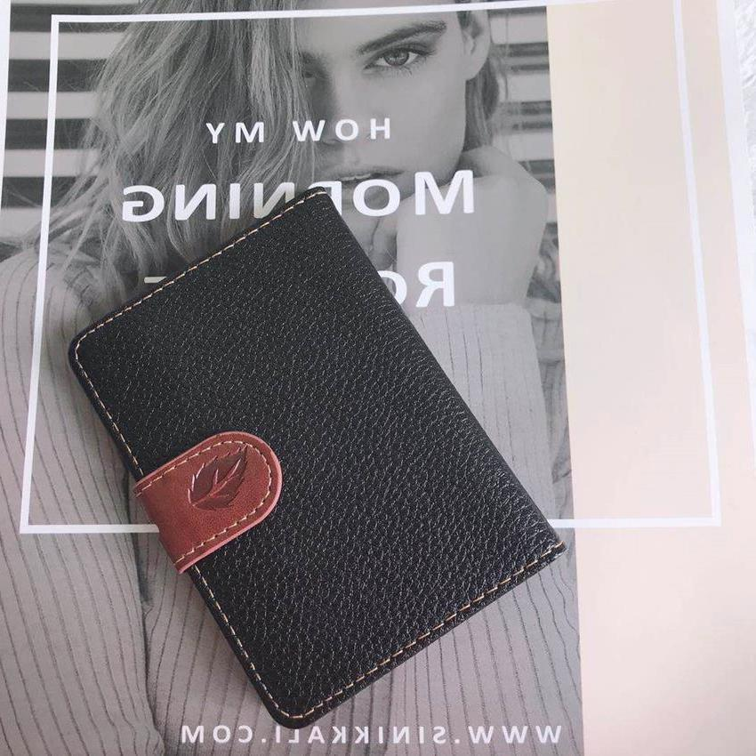 Fashion Leaf Print PU Leather Card Wallet Men Business Bank Card Holder Thin Credit Card Case Convenient Cards Pack Cash Pocket