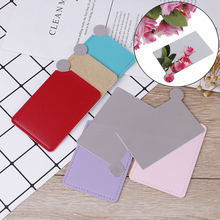1PCS Travel Shatter-proof Makeup Mirror With Carry Sleeve Birthday Gift Unbreakable Portable Stainless Steel Cosmetic Mirror