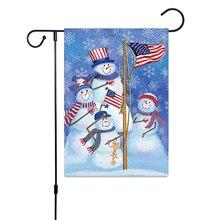 Christmas Halloween Welcome Thanksgiving Garden Flag Home Banner 30X45cm Santa Claus Indoor Outdoor Decor Hanging