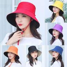 Шляпа женская солнцезащитная двусторонняя классическая шапка