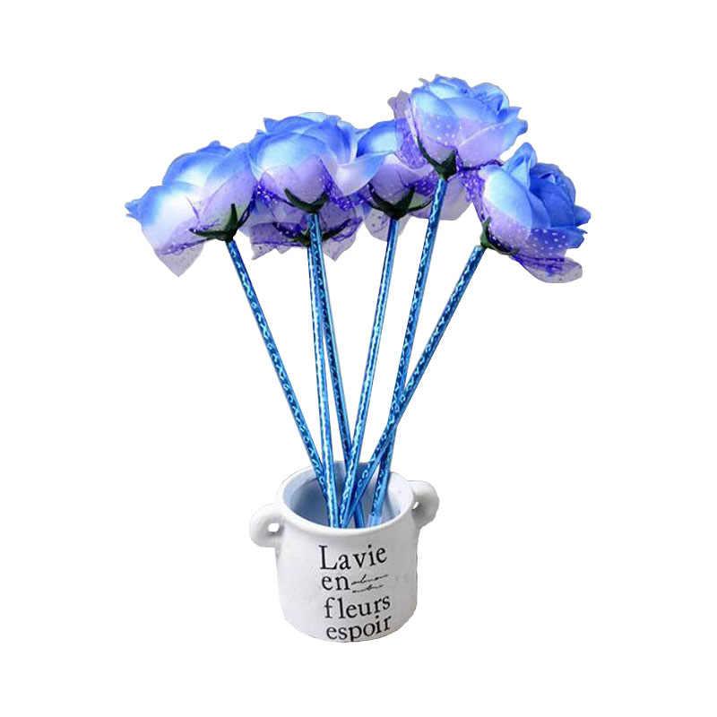 Różany kształt kwiatu długopis materiały biurowe magiczne pióro śliczne miłość kochanek dziewczyny studenci papiernicze długopis szkolne