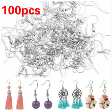 Hook-Accessories Jewelry-Making with Coil-And-Ball for DIY 100pcs Earring Stainless-Steel