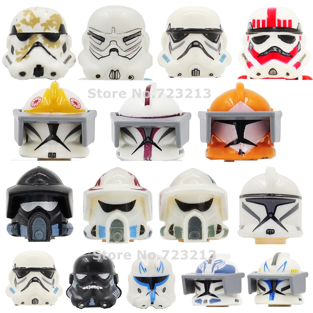 Single Star Wars Figure Head Shadow ARF Clone Fox Wolfpack Trooper Shock Storm Sand Death Snowtrooper Building Block Toys