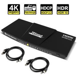 مفتاح ماكينة افتراضية معتمدة على النواة HDMI 4 منافذ HDMI مفتاح ماكينة افتراضية معتمدة على النواة 4 في 1 خارج KVM 4 منافذ HDMI التبديل 4x1 تصل إلى 4K @ 60Hz ق...