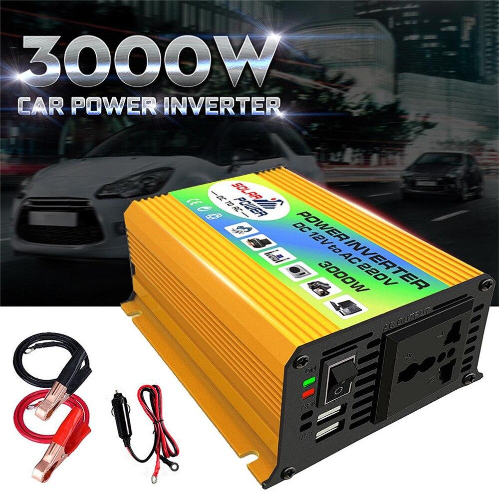 Converter Power Inverters 3000W DC12V To AC220V USB Charger Boat Car For Solar Inverter Appliances Car Inverter Car Accessories