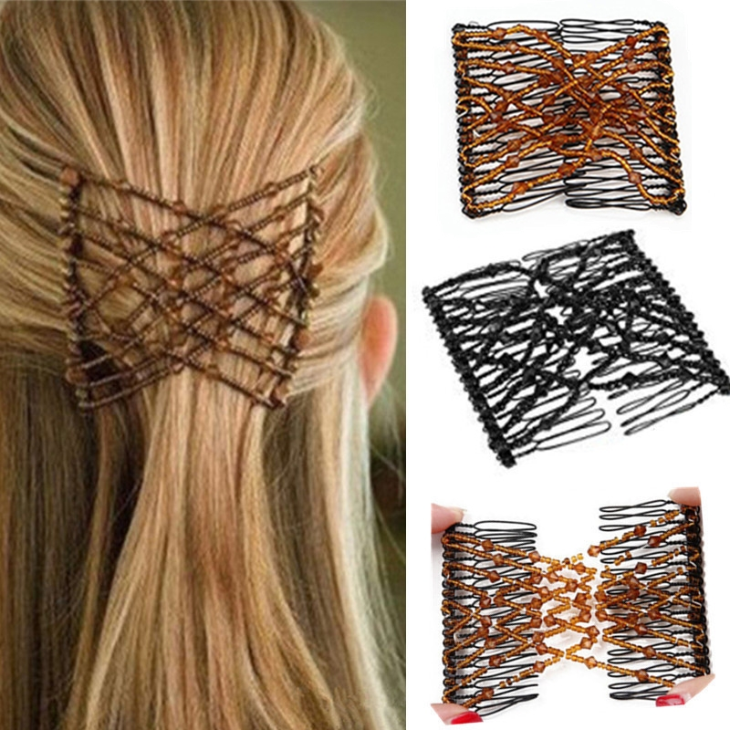 1PC Woman Elastic Magic DIY Toll Vintage Fashion Headband Hair Maker Bun Hair Combs Metal Hairpins Hair Accessories For Women