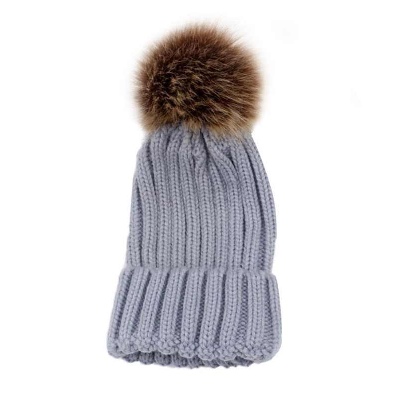 Nuovo Tappo Famiglia Corrispondenza Inverno Caldo di Modo Alla Moda Per Bambini Mamma Cotone Lavorato A Maglia Crochet Beanie del Cappello Caldo Della Protezione