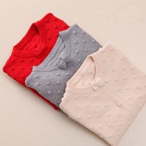 Image 5 - 2020 frühling kinder kleidung mädchen pullover casual feste langarm baby mädchen strickjacke pullover für mädchen große kinder