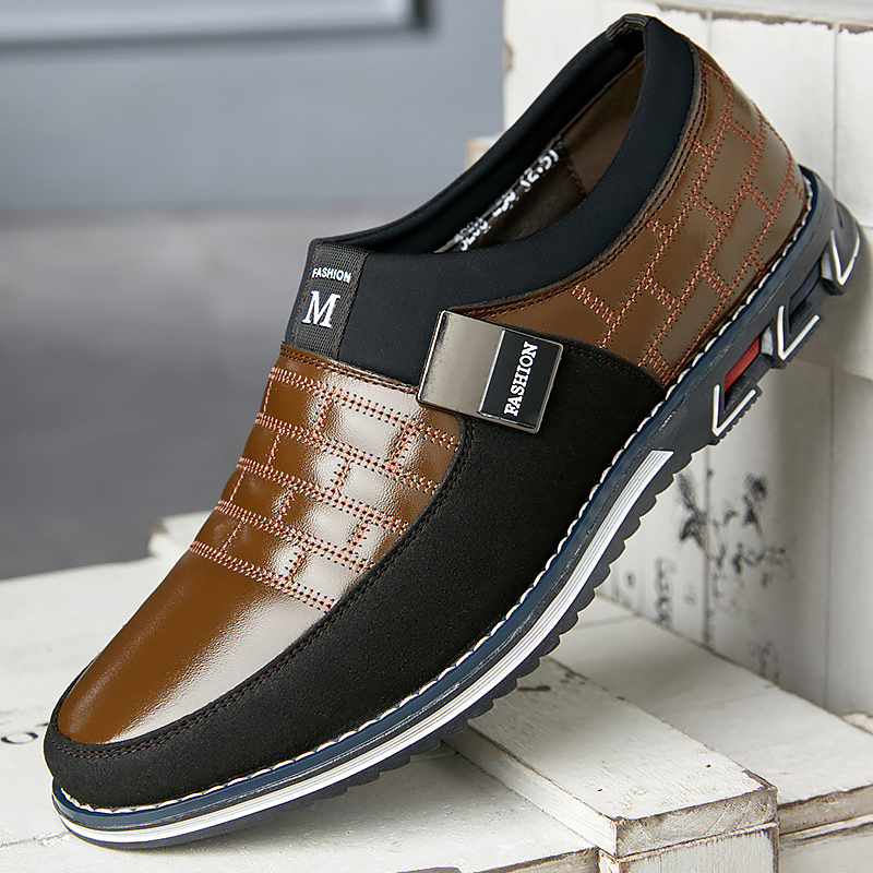 Genuine Leather Breathable Mens Shoes Casual Plus Size 38-48 Lattice Slip On Men Shoes Loafers Driving Moccasins Men
