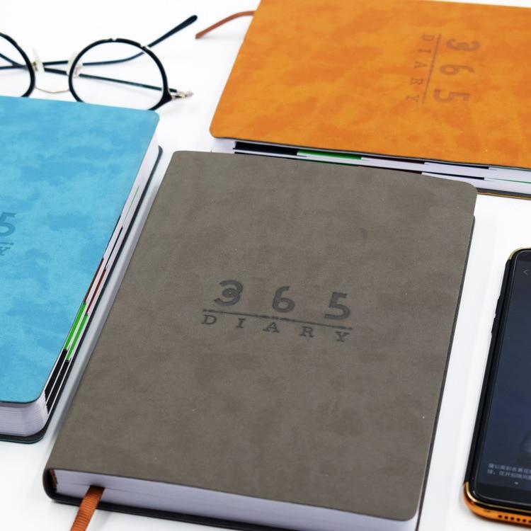 Harphia PU Soft Cover Notebook 2020 Daily Plan A5 Business Agenda English Schedule Paper
