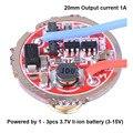 20 мм 3-15 в 1 А 1 Режим 5 режимов драйвер печатная плата DIY части для Q5 R5 T6 U2 L2 XPL 18650 26650 светодиодный светильник-фонарик