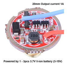 Lanterne lumineuse 20mm 3-15V 1A 1 mode 5 modes, circuit imprimé, pièces de bricolage pour Q5 R5 T6 U2 L2 XPL 18650 26650 lampe de poche LED