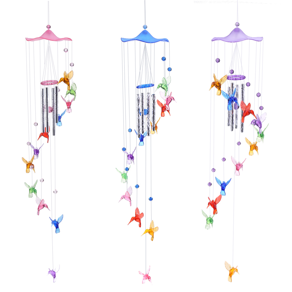 Creative Lucky Humming Bird Wind Bells Chimes Hanging Gifts Door Hanging Home Decor 2020 New Year Gift E5M1|Wind Chimes & Hanging Decorations| |  - title=