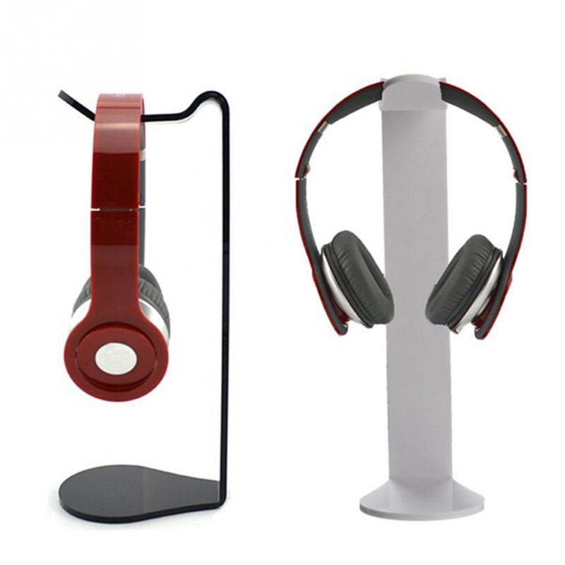 Universal Acrylic Headphone Display Stand Earphone Holder Portable Headset Bracket