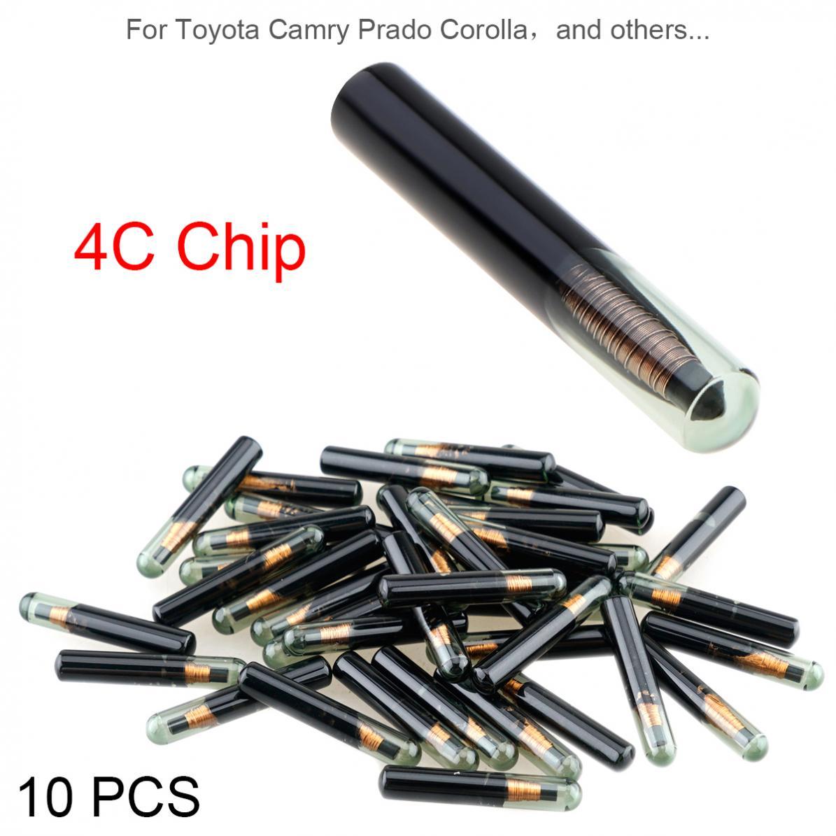 10 шт. пустой ID4C стеклянный чип приемопередающий чип ключа автомобиля подходит для Lexus Toyota Camry Prado Corolla