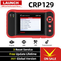 Launch-herramienta de diagnóstico Creader CRP129 OBD2 para coche, escáner OBDII, lector de códigos para automóvil, motor ABS SRS, diagnóstico de reinicio de aceite de freno
