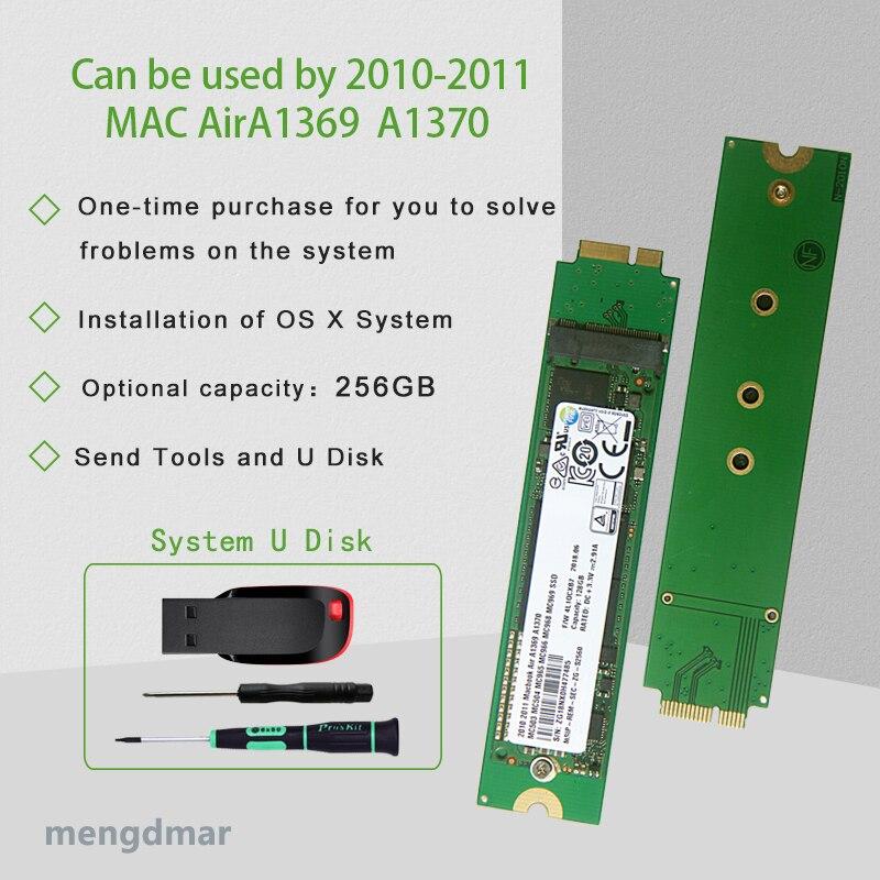 new 256GB SSD For 2010 2011 Macbook Air A1369 A1370 SOLID STATE DISK MC503 MC504 MC965 MC966 MC968 MC969 hard disk