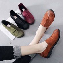 Spring/Autumn Women Shoes Flats Fashion Loafers Flock Plus Size 35-43 Casual Ladies Shoes Slip-On Breathable Zapatos De Mujer dqg 2018 spring casual women shoes loafers flats slip on zapatos mujer solid ladies shoes oxfords chaussures femme