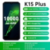 OUKITEL K15 Plus Smartphone 6.52'' 3GB+32GB Quad Core Android 10.0 Mobile Phone 10000mAh 13MP Triple Cameras NFC Cell Phone