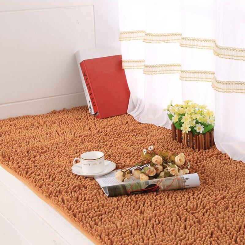 Tapis de fenêtre absorption d'eau tapis de sol épais tapis anti-dérapant cuisine tapis de porte en velours dense tapis de couloir paillasson