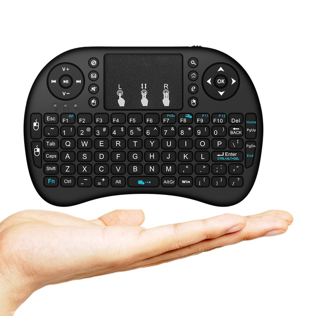 Wechip i8 Russian English Version 2.4GHz Wireless Keyboard Air Mouse With Touchpad Handheld Work With Android TV BOX Mini PC 18 5