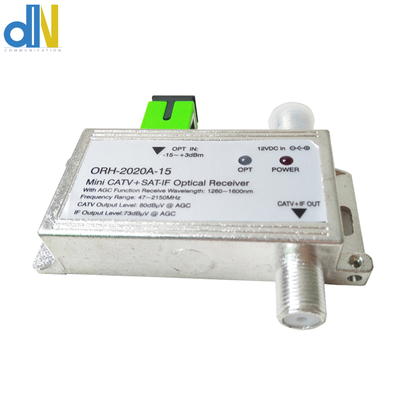 ORH-2020A-15 Optical Receiver With AGC For Catv And SATV 47-2150MHz MINI CATV + SAT-IF Optical Receiver Build-in Filter